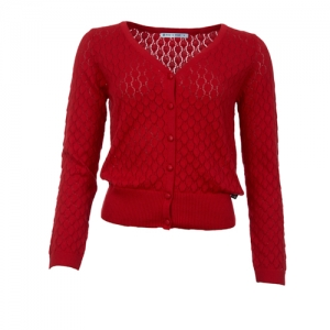 CARDIGAN GERDY RED
