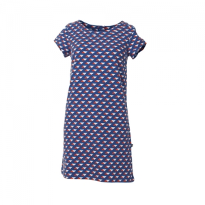 DRESS NANNI WITHOUT POCKETS TRIANGLE JERSEY COTTON