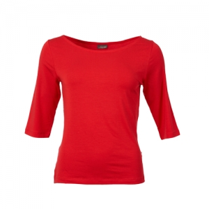SHIRT LINA RED JERSEY TENCEL