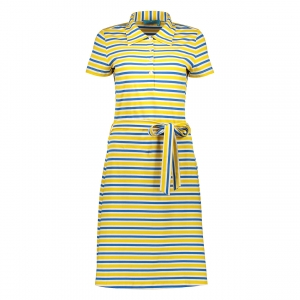 Polo dress yellow blue
