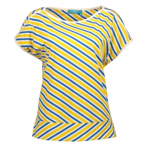 Shirt yellow blue
