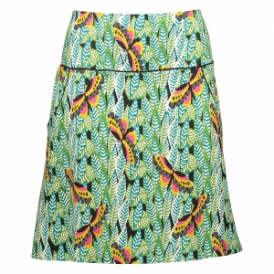 Skirt Butterfly green