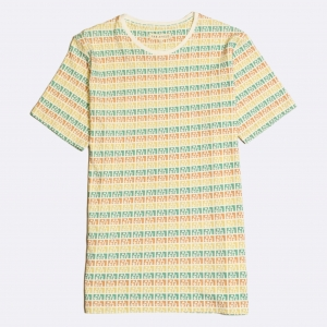 Puebla Stripe Printed T-Shirt Multi Colour