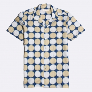 Selleck Shirt Linnen Monaco Blue