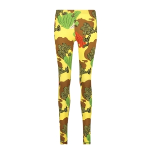 legging-leaves panter yellow brown