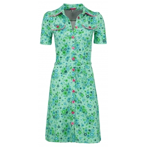 Dress Betsy fleurie green